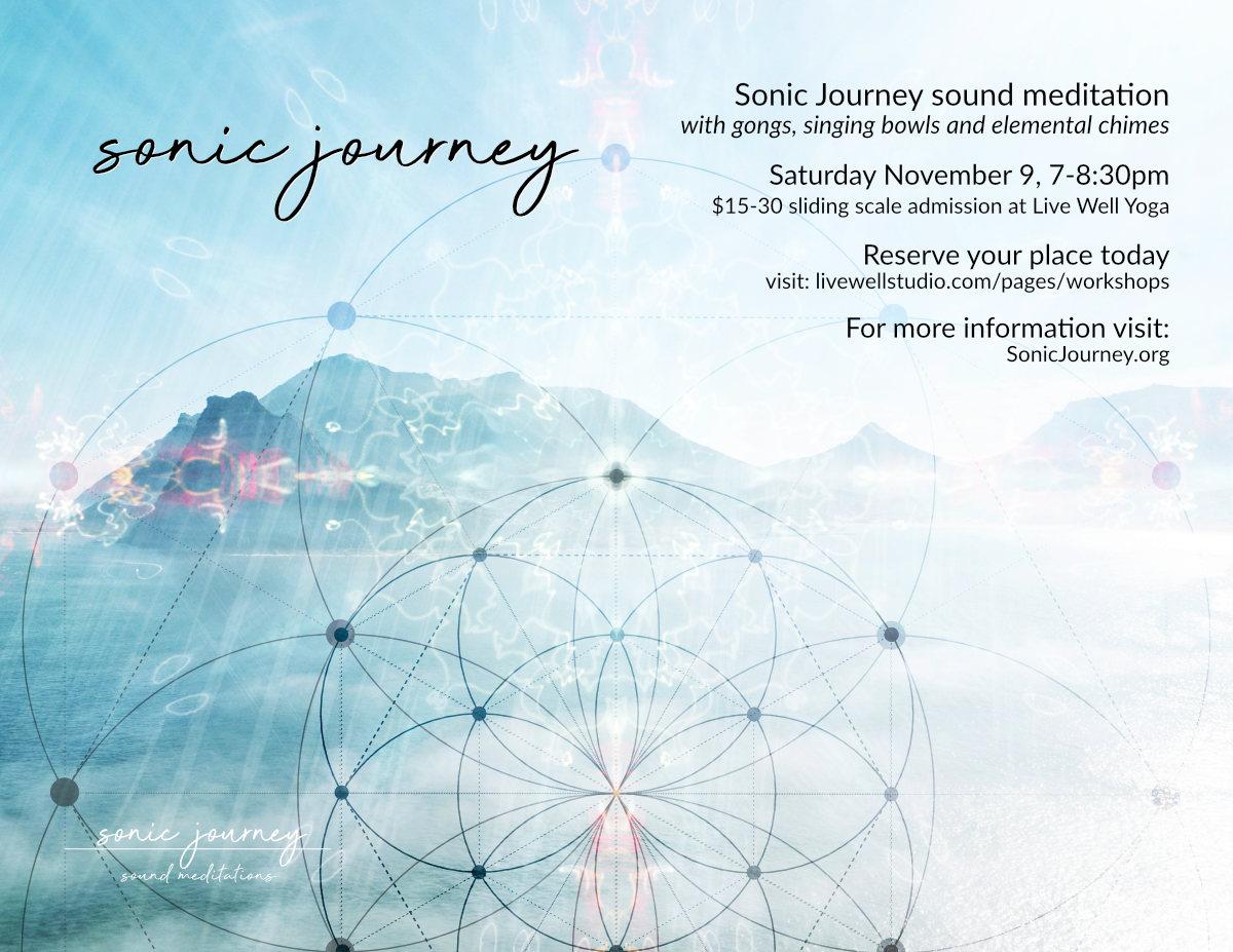 Sonic Journey - Live Well Yoga 11/9